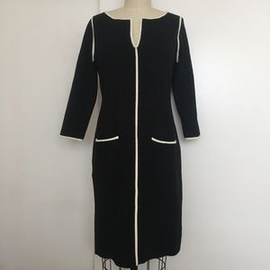 Ann Taylor Black and White Sweater Dress
